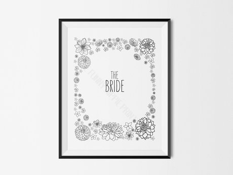 Bride & groom signs - digital