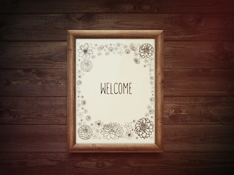 Welcome sign - digital