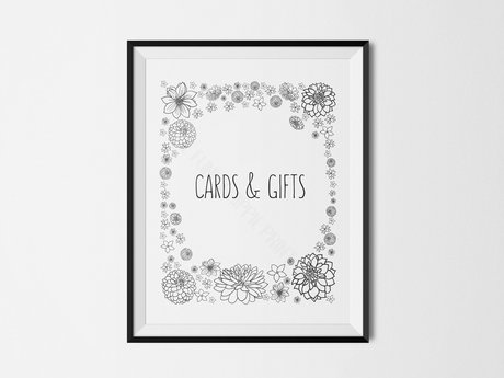 Gift table sign - digital
