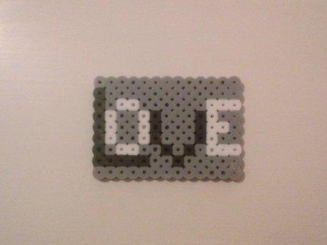 Perler Bead LOVE Magnet