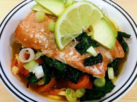 Recipe: Salmon Broth Bowl
