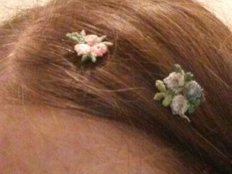 Hair decor (small flower patches)