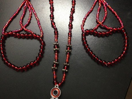 Ruby Red! Necklace & Bracelets