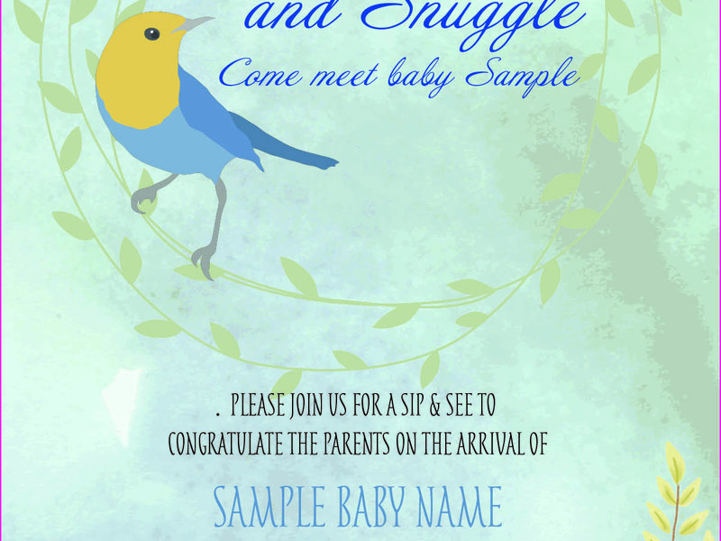 custom baby shower invitation stephanie parker simbi