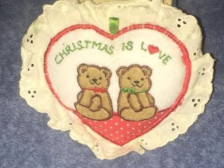 """Christmas is Love"" Tree Ornament"
