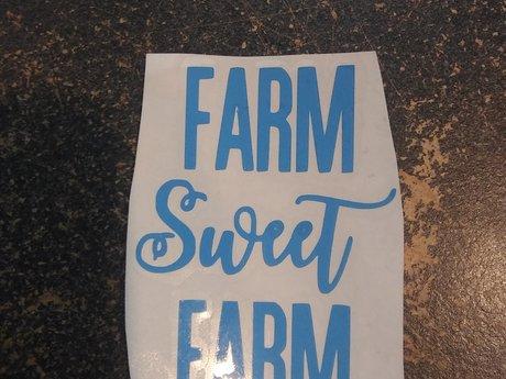 Farm Sweet Farm vinyl decal