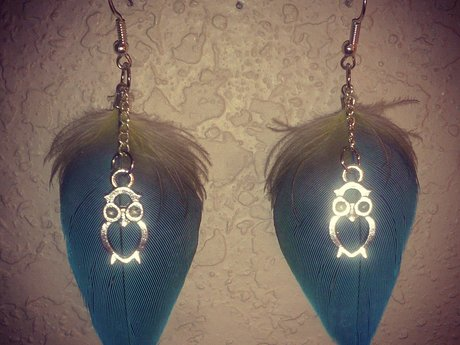 Parrot Feather Earrings