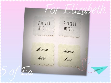 Custom Text Postage Stamp Stickers