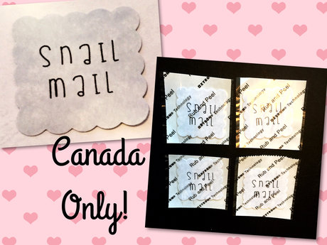 """Snail Mail"" Postage Stamp Stickers"