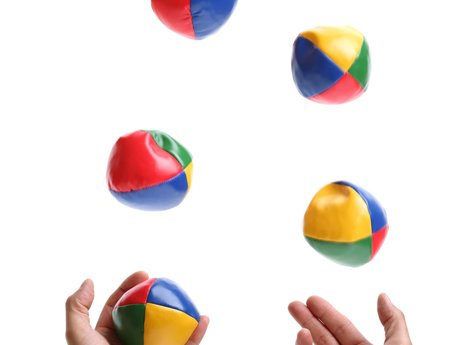 Three balls patterns - Juggling