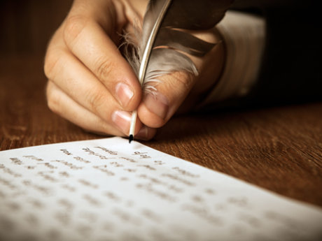 Writing poetry or quotes