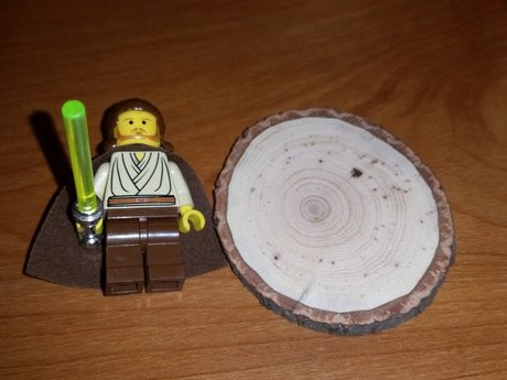 Small natural hickory wood disc
