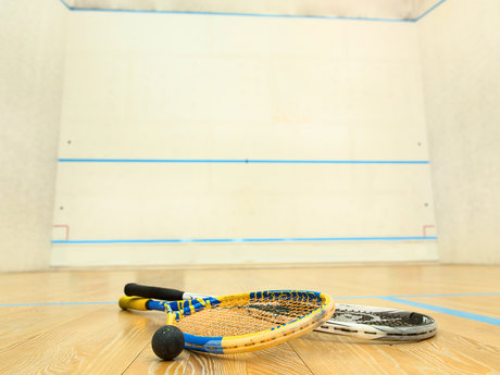30 minute squash lesson / practice
