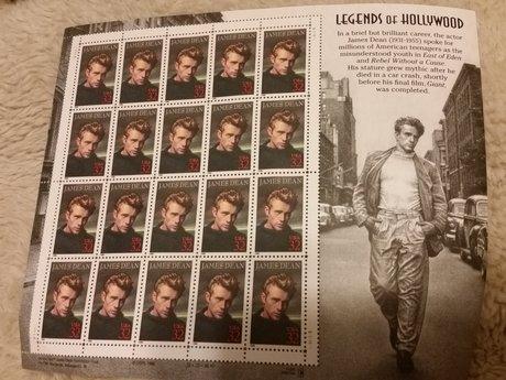 James Dean Art Stamps