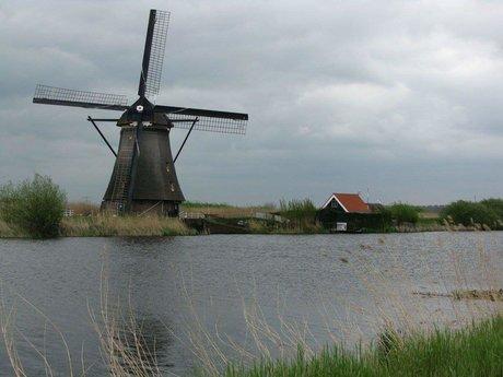 Kinderdijk, Holland, digital photo