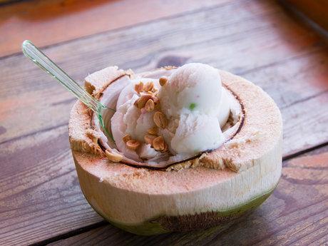 Coconut milk maple syrup ice cream