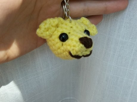 Yellow Labrador dog keychain