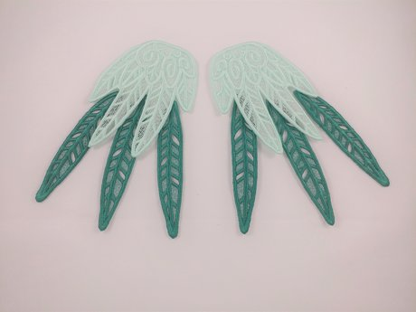 Embroidered Lace Wings - Junior Set