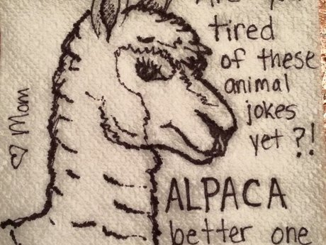 Personalized napkin doodle