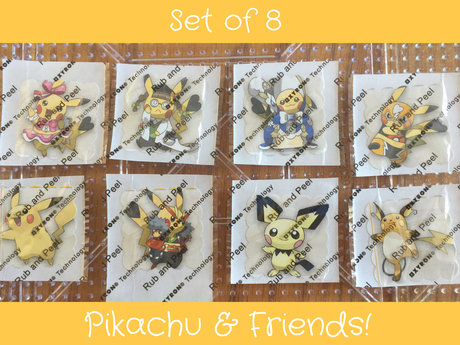 8 Pikachu Stickers
