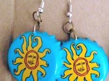 Sun Bottlecap Earrings