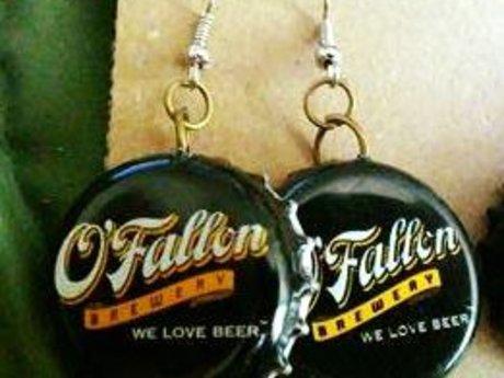 O'Fallon Bottlecap Earrings