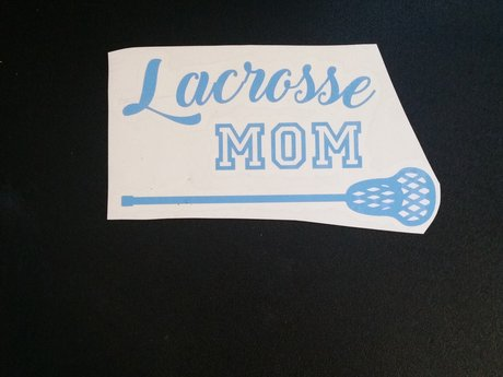 Lacross Mom decal