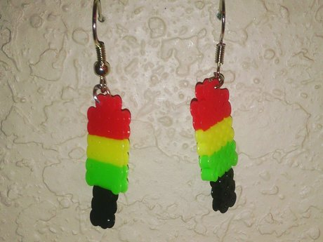 Mini bead popsicle earrings