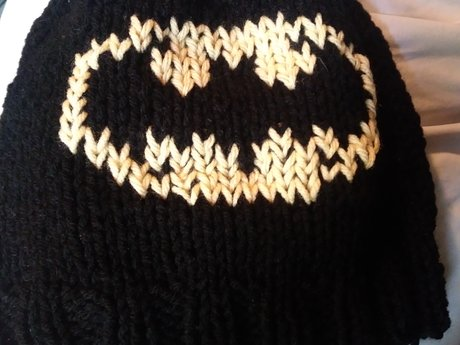 Batman Logo Handknit Hat