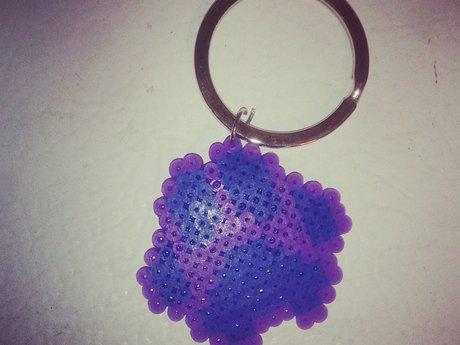 Paw print keychain