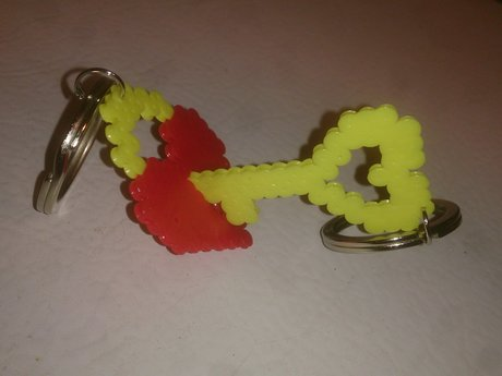 Lock and key matching keychains