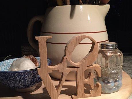 LOVE sculpture wooden replica