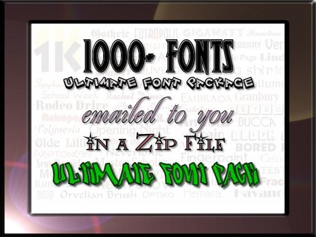 ULTIMATE 1000+ FONT Package ON SALE