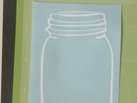 Mason Jar Vinyl Decal- White