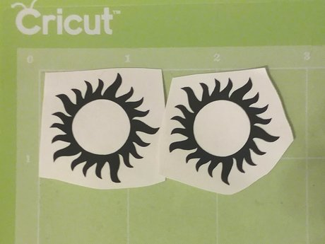 Two Sun Vinyl Decals - Black