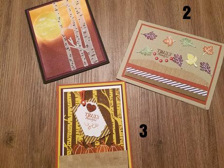 Handmade Cards - Fall Theme