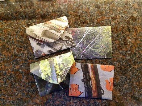 Handmade Envelopes - Outdoor & Guns
