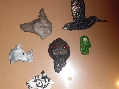 Hand-Sculpted Animal Magnet