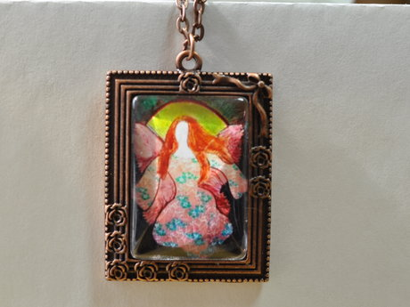 Jewelry original art necklace ANGEL
