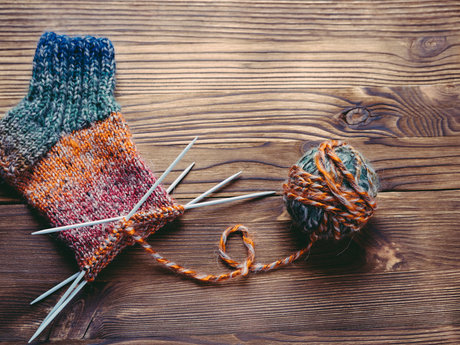Private beginning knitting lessons