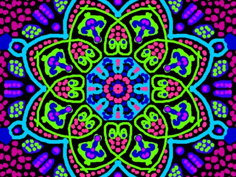 30 Kaleidoscope Repeat Patterns