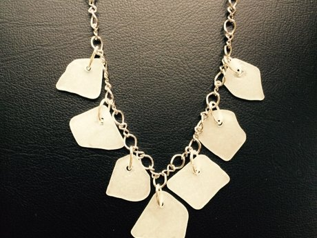 Necklace with Dangling Sea Glass