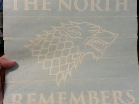 """12"""" x 12"""" The North Remembers GoT"""