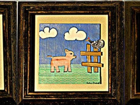 FUNKY FARM nursery art home decor