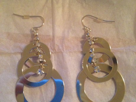 Shiny Circle Rhinestone Earrings