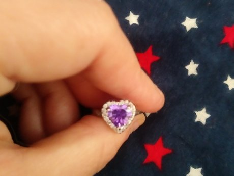 Pretty Purple Stone Ring