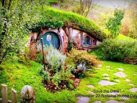 Hobbit Day magnet postcard