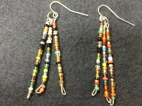 Handmade Small beaded earrings