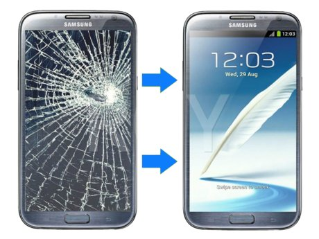 Cracked Cellphone Screen Repair