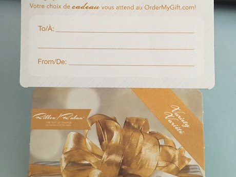 Gift Certificate CANADA ONLY!
